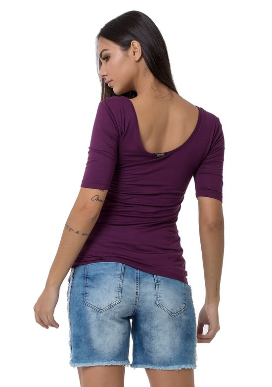 T-Shirt-De-Viscose-Lisa